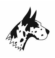 Great dane dog icon simple style vector image