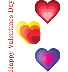 happy valentines day - vector image