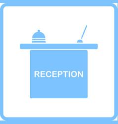 Hotel reception desk icon vector