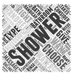 How to choose shower bathroom accessories word vector
