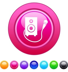 Karaoke circle button vector image vector image