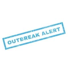 Outbreak alert rubber stamp vector