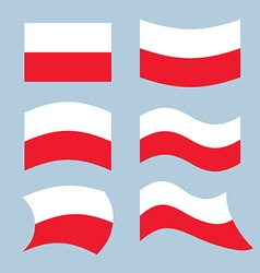 Poland font polish flag on letters national vector