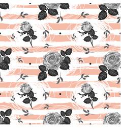 roses pattern vintage flower seamless background vector image vector image