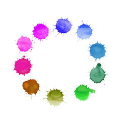 round frame made of watercolor rainbow vector image vector image