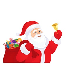 Santa with a bell vector