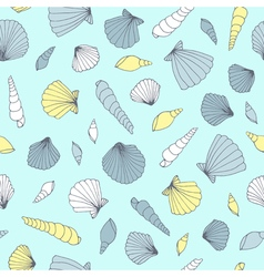 Seamless seashell pattern vector image vector image