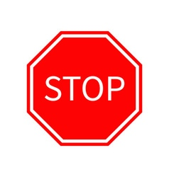 Stop traffic warning road sign prohibition no vector
