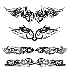 Tribal birds owl vector
