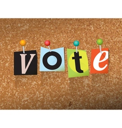 Vote Concept vector image vector image