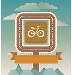Template with cicycle and road vector