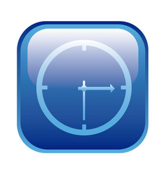 blue square frame with wall clock icon vector image
