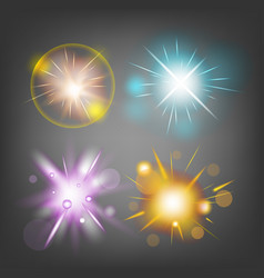 Star fire bomb sparks light vector