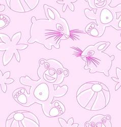 Bunny bear childfish seamless texture vector