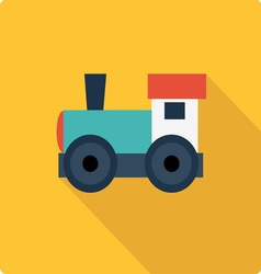 Little engine simple flat vector