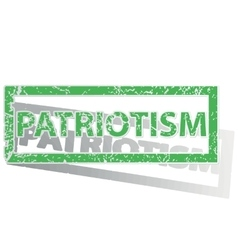 Green outlined patriotism stamp vector