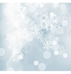 Blue snowflake design vector