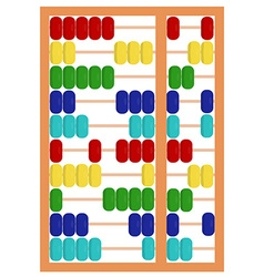 Colorful abacus toy vector