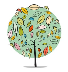 Tree - Abstract Flat Design Isolated on Whit vector image