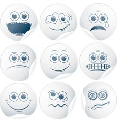 Paper Smileys vector image