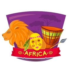 Africa concept design vector image vector image