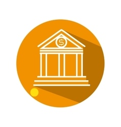 Bank building flat icon vector