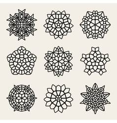 Black And White Mandala Lace Ornaments vector image