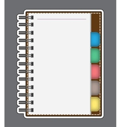 Blank Paper with Notebook outline vector image vector image