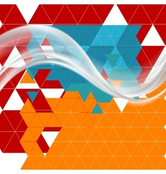 Bright tech futuristic background with waves vector image vector image
