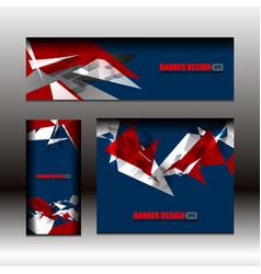 business banner blue color design vector image vector image