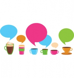 coffee dialog vector image