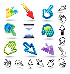 common mouse pointers vector image vector image