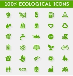 Ecological icons collection vector