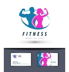 Fitness logo design template gym or sport vector