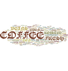Fresh coffee text background word cloud concept vector