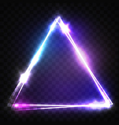 glowing triangle on transparent background vector image
