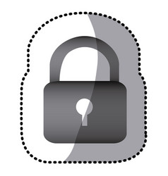 grayscale lock close icon vector image vector image