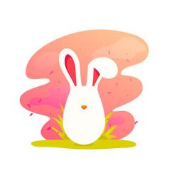 happy easter cute cartoon easter bunny vector image vector image
