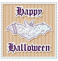 Happy halloween on cardboard background vector