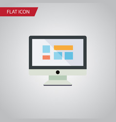 Isolated monitor flat icon display element vector