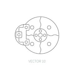 Line flat icon car repair part - brake vector