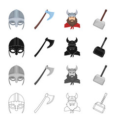 norway history museum and other web icon in vector image