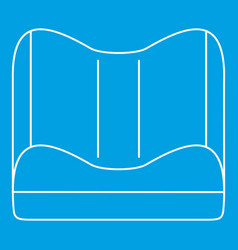 Orthopedic pillow icon outline style vector
