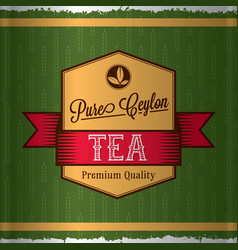 Pure ceylon tea poster vector