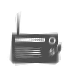Radio sign gray icon shaked vector