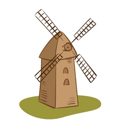 rural mill vector image