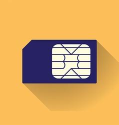 Sim card vector
