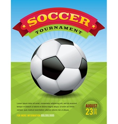 Soccer Tournament Design vector image vector image