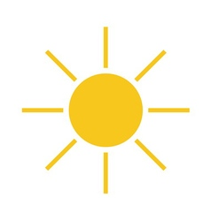 Sun icon light yellow vector