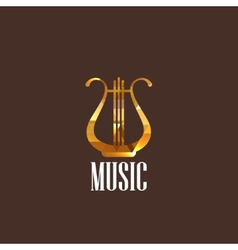 With diamond lyre icon vector
